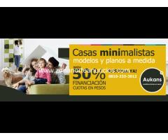 Construcción de Casas minimalistas - Aukans Construcciones